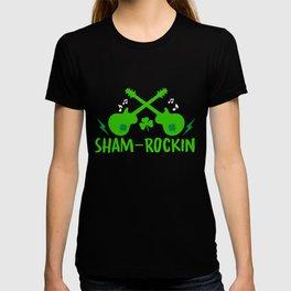 Sham-Rockin - St Paddys Day Rock N Roll Guitar Gift T-shirt