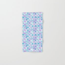 Mystical MERMAID DAYDREAMS Watercolor Scales Hand & Bath Towel