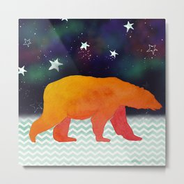 Aurora Bear -  Technicolour Safari, Polar bear Metal Print