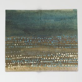 Landscape Dots - Night Throw Blanket