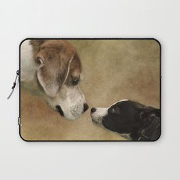 Nose To Nose Dogs Laptop Sleeve
