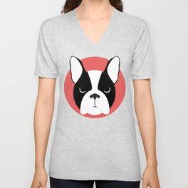 Dog - Boston Terrier Unisex V-Neck