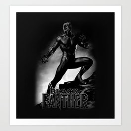 wakanda panther Art Print