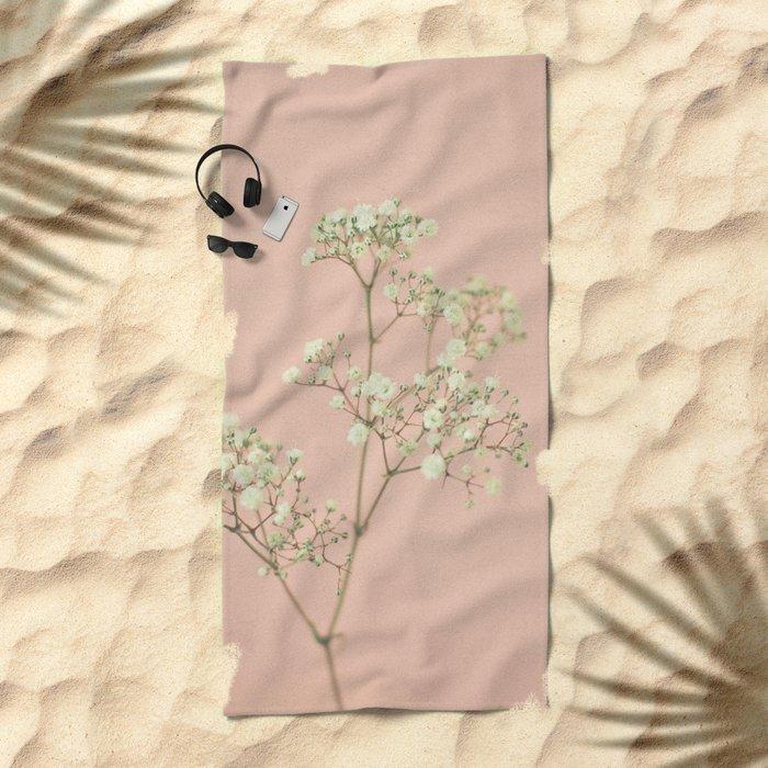 Baby's Breath Beach Towel