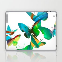 Green Butterflies Laptop & iPad Skin