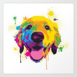 Playful Riley Pup Art Art Print