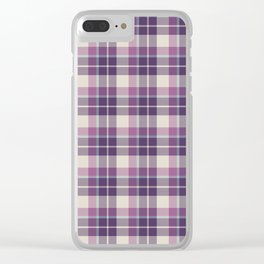 Winter Plaid 6 Clear iPhone Case
