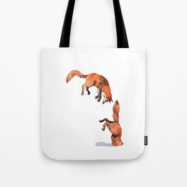 Jumping Red Fox Tote Bag