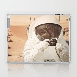 Astronaut Cat on Mars Laptop & iPad Skin