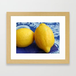 Two Lemons Framed Art Print
