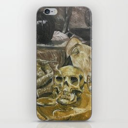 Skull still life iPhone Skin