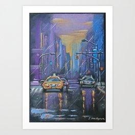 Rain in the City Art Print