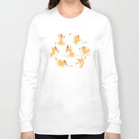 corgi Long Sleeve T-shirts featuring Corgi by Inkinesss