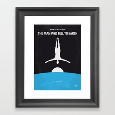 No208 My The Man Who Fell to Earth minimal movie poster Framed Art Print