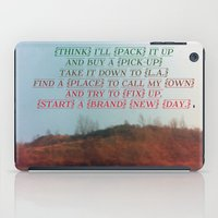 "neil gaiman iPad Cases featuring ""Out On The Weekend"" by Neil Young by Melissa Martinez"