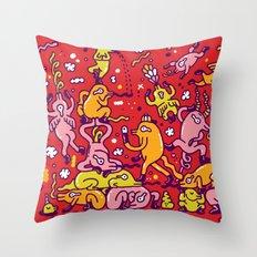 Lizard network Throw Pillow