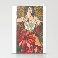 mucha Stationery Cards featuring Alphonse Mucha by katrinefor