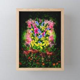 WILDFLOWER BOUQUET Framed Mini Art Print