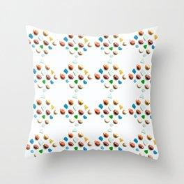 Sea Glass and Sea Shells Throw Pillow