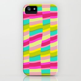 MULTI COLOURED STRIPE iPhone Case