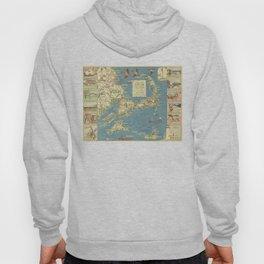 Vintage Cape Cod Map (1940) Hoody