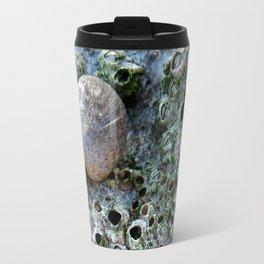 Nacre rock with sea snail Travel Mug