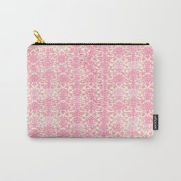 Salmon Pink Damask Carry-All Pouch