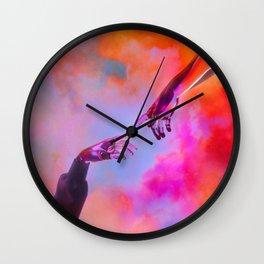 La Création d'Adam - Dorian Legret x AEFORIA Wall Clock