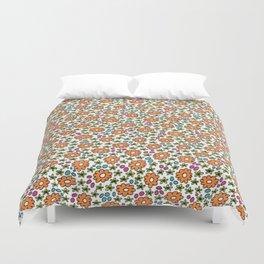 Ditsy Flora Orange Duvet Cover