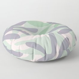 Seychelles Garden Botanical Abstract Pattern in Lavender, Pink, and Light Sage Green Floor Pillow