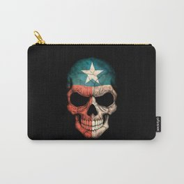 Dark Skull with Flag of Texas Carry-All Pouch