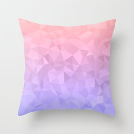 Pastel Ombre Throw Pillow