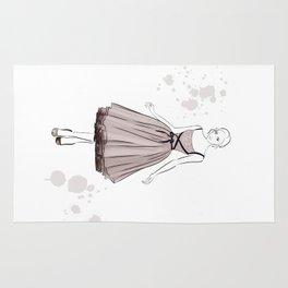 Girl in Beige Rug
