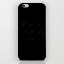 Venezuelan striped map - white iPhone Skin