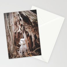 SPLIT TREE WITH DOG Stationery Cards