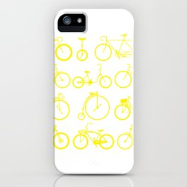 Bicycle history time unicycle art gift iPhone Case