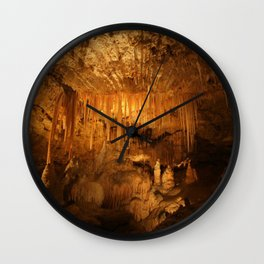 Limestone Cave Formations Wall Clock