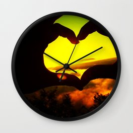 Heart Hands Forever Wall Clock