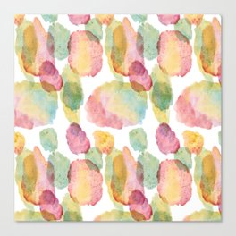 rainbow waterolor abrstract Canvas Print