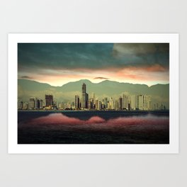 Sunset City Art Print