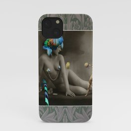 The Strongman & The Hooping Showgirl iPhone Case