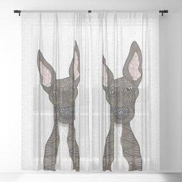 Cute brindle and white Greyhound Sheer Curtain