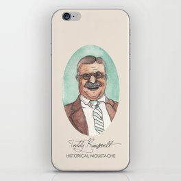 Historical Moustache Teddy Roosevelt iPhone Skin