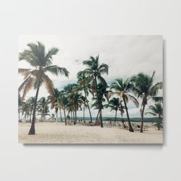 Palms on the Beach Metal Print