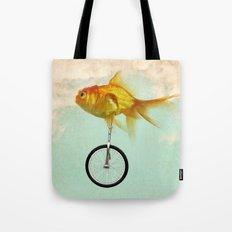 unicycle goldfish 02 Tote Bag