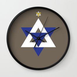 Christmas Star of David Wall Clock