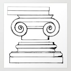 Classic Ionic Style Art Print