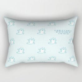 Kawaii Ice melting cat pattern Rectangular Pillow