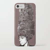 erykah badu iPhone & iPod Cases featuring Erykah Badu by Simone Rohler Art