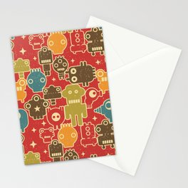 Robots on red. Stationery Cards